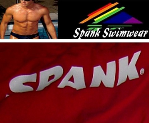 "34"" Red Spank White Logo - Click Image to Close"